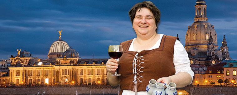Historische Stadtführung und Dinner & Wein im Sophienkeller Dresden